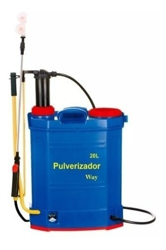Pulverizador 2x1 Elétrico Carga C/ Painel Solar 3 Bicos 20l