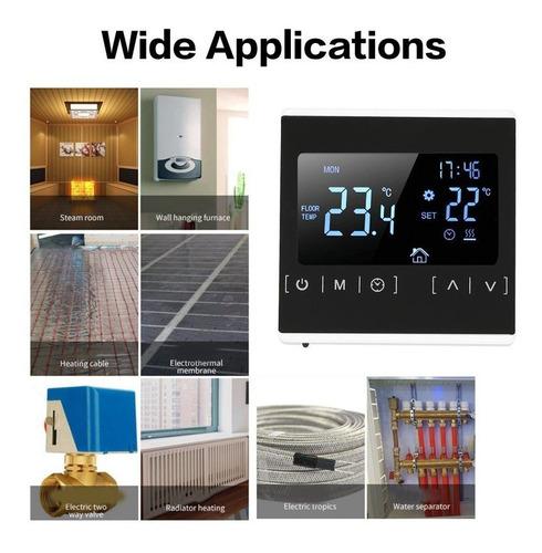 regulador de temperatura mec/ánico con interruptor Termostato para calefacci/ón por suelo radiante y pared est/ándar 230 V Meiqqm termostato universal de ahorro de energ/ía