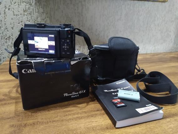 Canon G1x Mark Ii + Sd 16 Gb + Bateria Reserva 4.050 Cliques