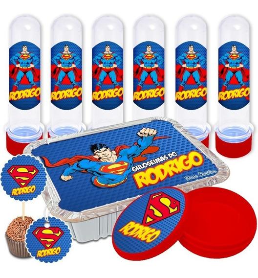 Adesivos Personalizados Lembrancinha Superman 150 Peças