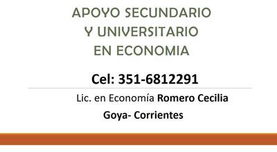 Apoyo Escolar Y Universitario Personalizado En Economia