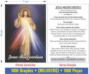 Jesus Misericordioso (1000 Santinhos De Oração)
