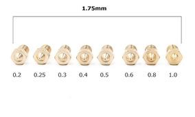 Kit Bico Nozzle Hotend 1.75mm Impressora 3d 8 Unidades