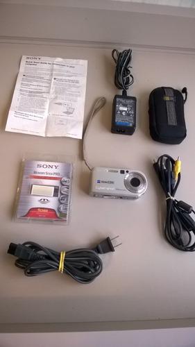 Câmera Sony Zeiss Effective  Cybershot  7,2 Mp Completássa