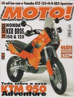 Moto! N°100 Ktm 950 Adventure Honda Nxr Bros 125 150 Xtz 883