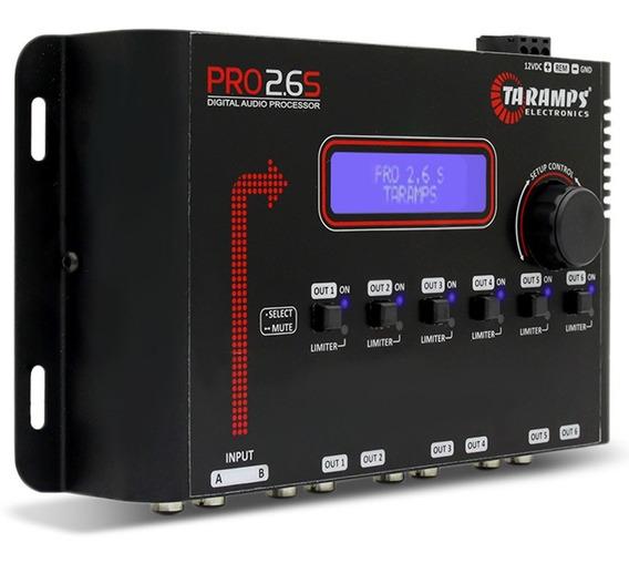 Processador Áudio Taramps Pro 2.6s 6 Saídas Entrada Rca