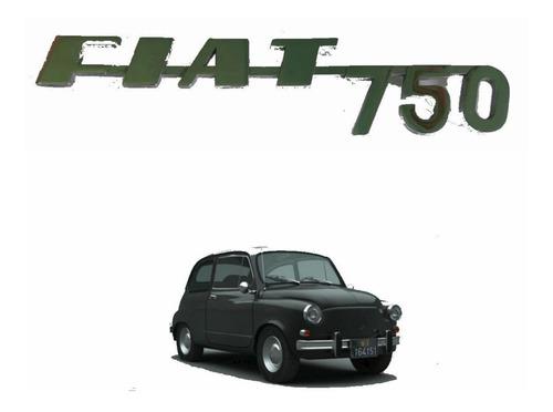 Insignia Logo Emblema Trasero Original Fiat 750