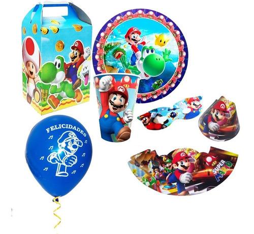 Todo Para Tu Fiesta De Mario Bros Platos Vasos Y Más.