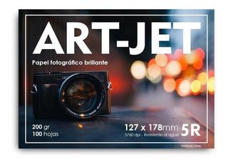 Papel Fotográfico 13x18 Glossy Brillante Art-jet® 100h 200gr