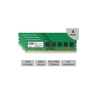 Kit De 32gb 4x 8gb Pc3-10600 1333 Mhz Ecc Sin Aplicaciones A