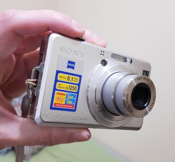 Câmera Sony Dsc-w100 - 8.1 Mp - Em Ótimo Estado
