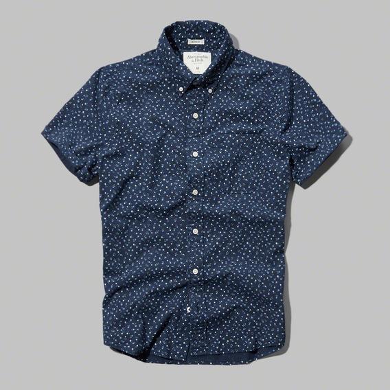 Abercrombie & Fitch Remate Camisa Estampada Shirt Import Usa