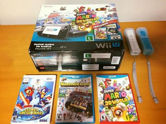 Wii U Deluxe Set - Pouquíssimo Uso!