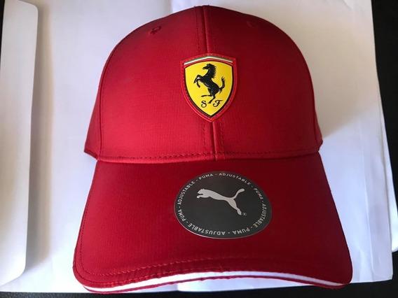 Gorra Ferrari Puma Roja Vicera Curva Original Con Etiquetas