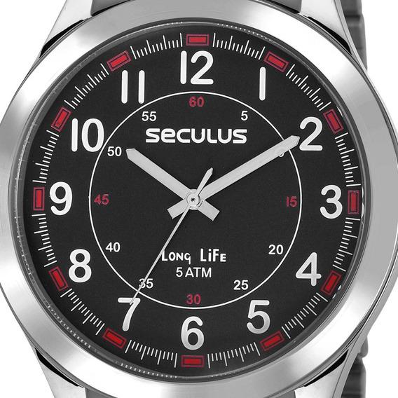 Relógio Seculus Masculino Barato Garantia Original Nfe