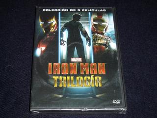 Iron Man Dvd Trilogía ( Original) C/ Detalle