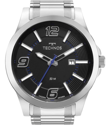 Relógio Technos Masculino Prata Performance Racer 6p29aft/1p