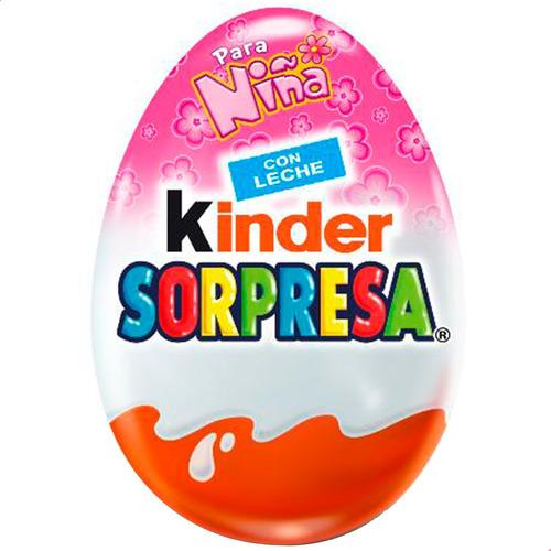 Huevo Kinder Sorpresa Para Niña Chocolate - Caja X12 Unid