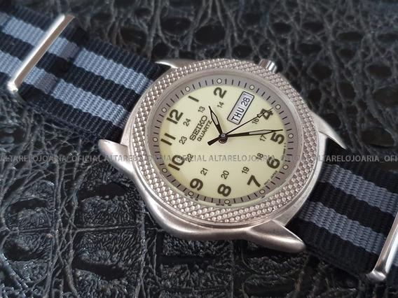 Relógio Seiko Vintage Aviator Calendário Quartz