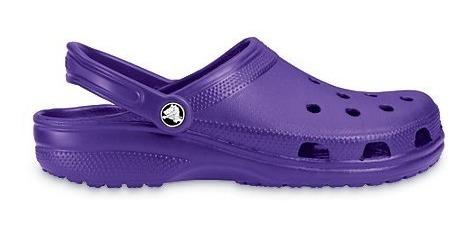 Crocs Classic Zueco Originales. Violeta. Niño/a.