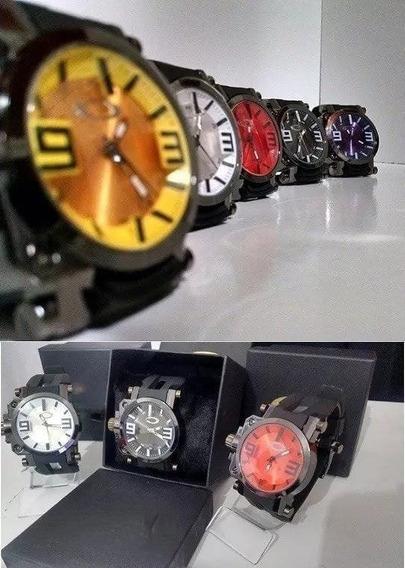 Kit 5 Relógio Pulso Masculino Aokley Gearbox Cravado+ Caixa