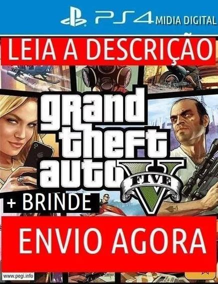 Gran Theft Auto V Ps4 Psn Digital Primario Gta 5 + Brinde