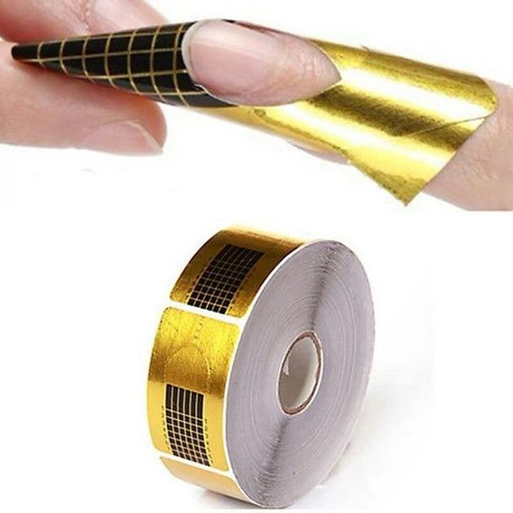 Moldes Dorados X 500 Unidades -uñas Acrilicas -gelifcadas