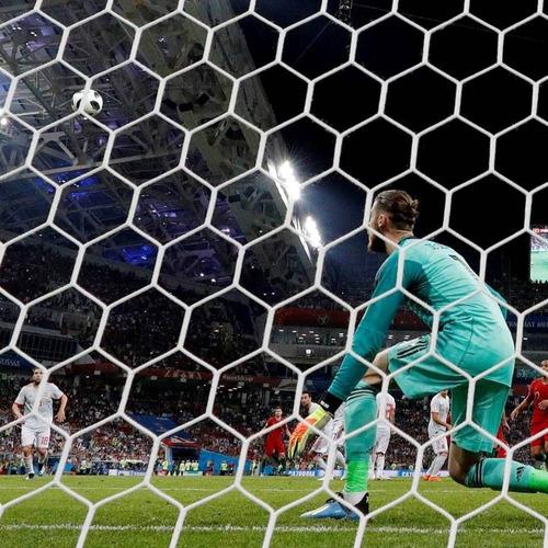 Imagen 1 de 12 de  10m2 Red Hexagonal Perimetro Cancha Futbol 10cm Soga 3,3/5m