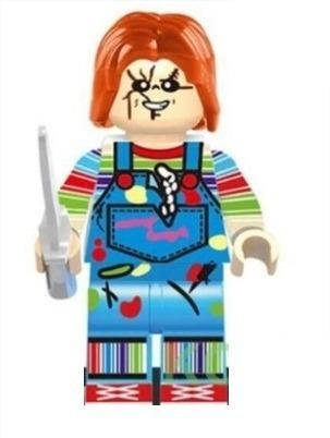 Chucky Brinquedo Assassino Filme Boneco Figura Açao Blocos
