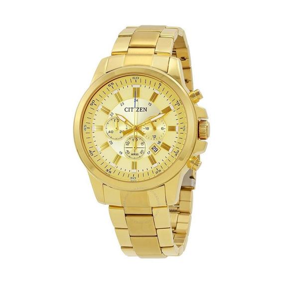 Relógio Citizen Masculino An8083 51p Aço Dourado Original