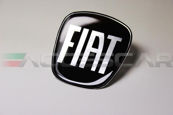 2 Adesivos Emblema Fiat Preto Argo ( Frete Fixo )