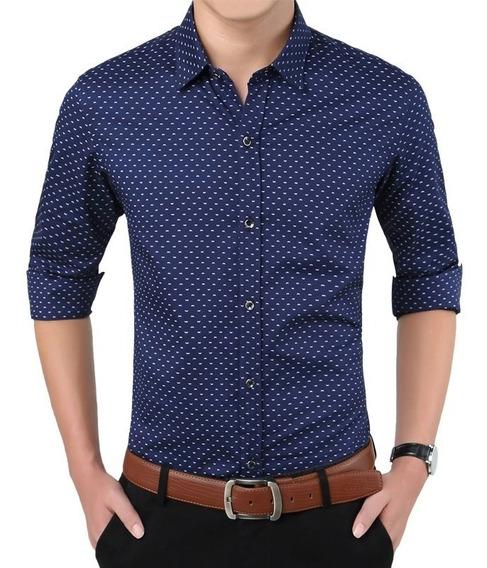 Camisa Slimfit Formal Casual Detalles Moderna Al Mejor Preci