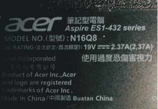 Acer Aspire Es1-432 Modelo N16q8 Reparación O Repuestos
