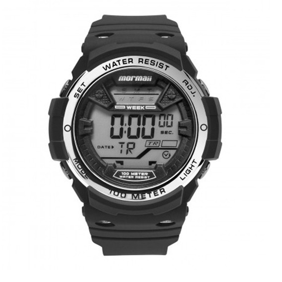 Promoção Relógio Mormaii Masc. De Borracha Mo3500b/8k +frete