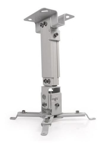 Base Para Proyector Klipx Blanca De Techo Desde 280mm Hasta
