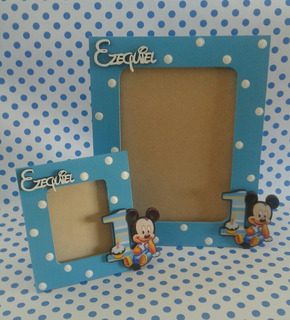 Portarretrato Souvenir Mickey Minnie Frozen Zennon Y Mas
