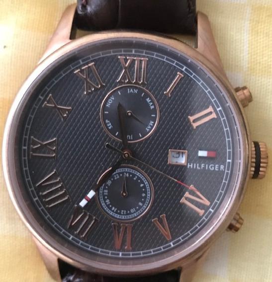 Relógio Tommy Hilfiger Original - Couro Legítimo - Analógico