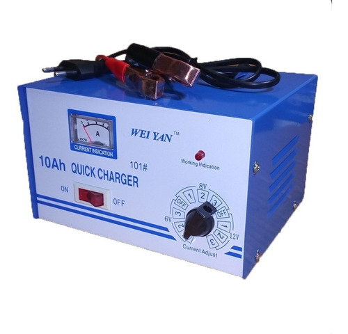 Imagen 1 de 5 de Cargador De Baterias Auto Multi Voltaje 6v 8v Y 12v