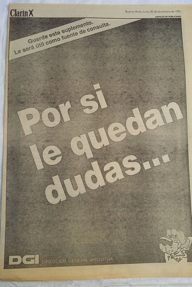 Suplemento Clarin 1991 Dgi Nuevas Normas