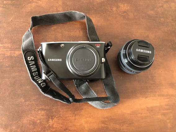 Câmera Samsung Nx100 Kit 20-50mm Mirrorless Aps-c Amoled