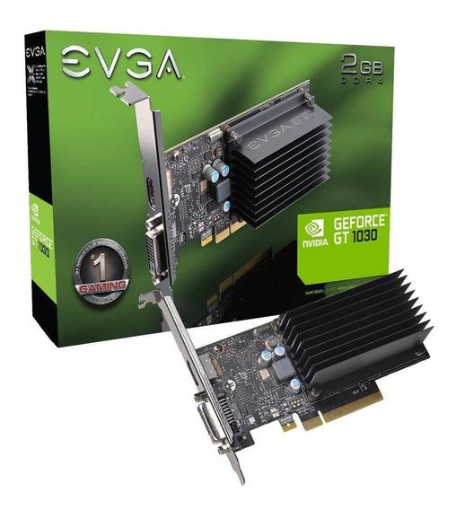 Placa De Vídeo Evga Geforce Gt 1030 2gb Ddr4 Nvidia Gt1030