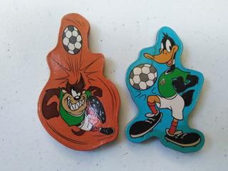 Mini Lote De 2 Imanes Looney Tunes Seleccion Mexicana Vintag