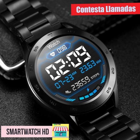 Smartwatch De Fibra De Carbón, Gratis 1 De Correa De Metal