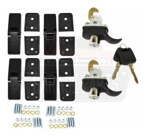 Imagem 1 de 3 de Kit 4 Dobradiças Pretas + 2 Fechos Buggy Gurgel Mesma Chave!