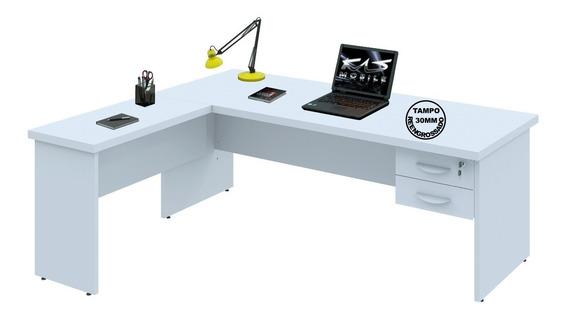 Mesa Para Escritório Em L Tpo30mm 2.00x1.60 | Várias Cores