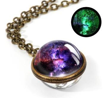 Collar Galaxia ,nebulosa ,cósmico,brilla En La Oscuridad