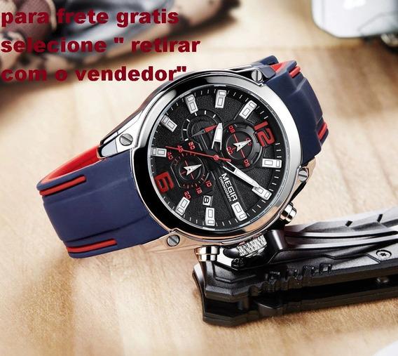 Relógios Masculinos Quartz Megir Prova D