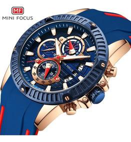 Focus Mf0244g Masculino 38mm Luxo Quartzo Esportes Relógio