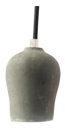 Lustre Luminaria Pendente Holder Em Concreto Soquete E27