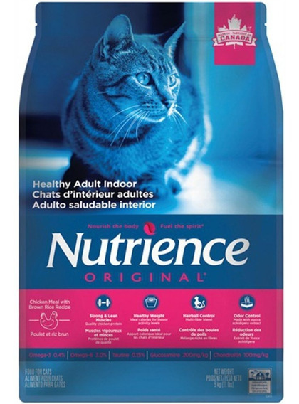 Nutrience Original Gato Adulto Indoor X 5 Kg